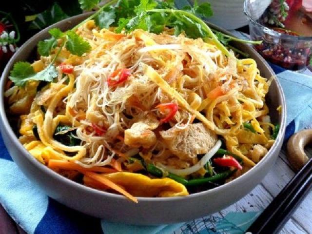 Hướng dẫn nấu món bún xào chay thơm ngon hấp dẫn | Món Ngon Sài Gòn